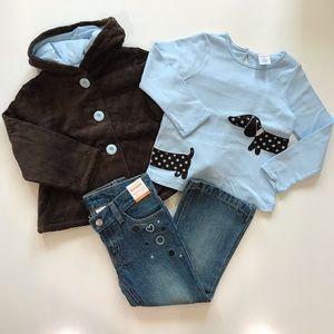 NWT Gymboree Girls 3 3T Jacket Shirt Jeans Lot NEW